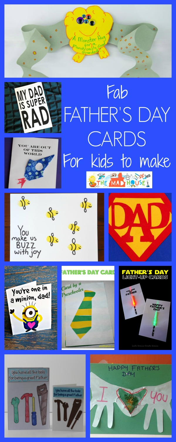 Fab fathers day cards for kids to make