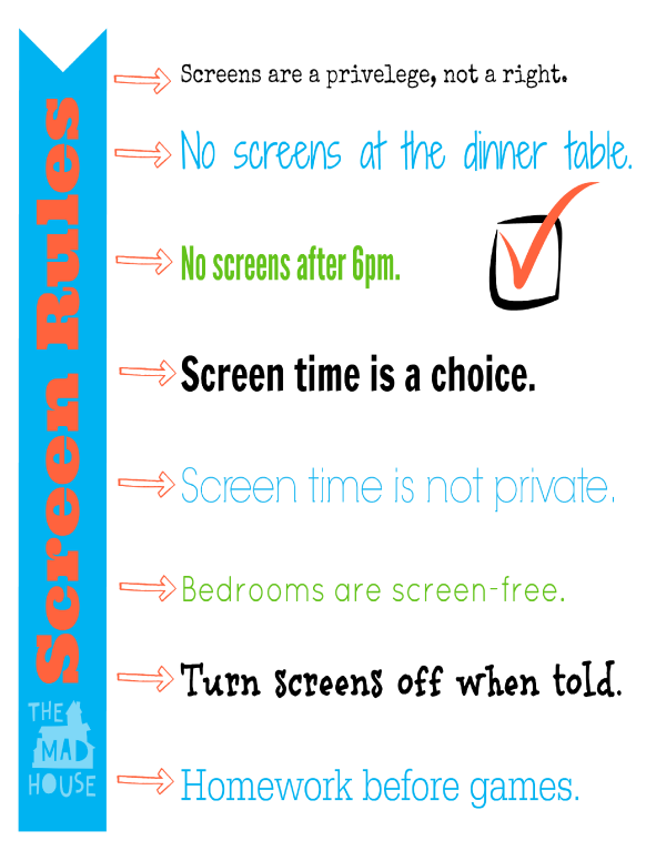 photograph about Screen Time Rules Printable referred to as Summertime Display Legal guidelines - Free of charge Printable - Mum Within just The Madhouse
