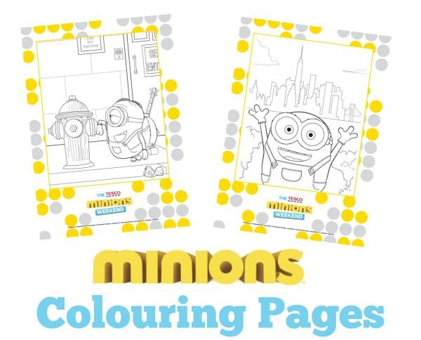 minions colouring