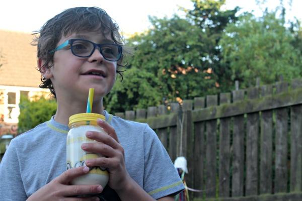 Minion drinking milkshake
