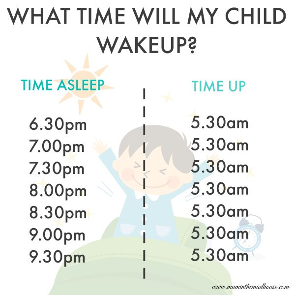 What time will my child wake up