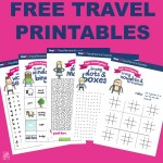 Free travel printables perfect for train journeys