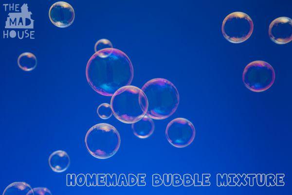 homemade bubble mixture