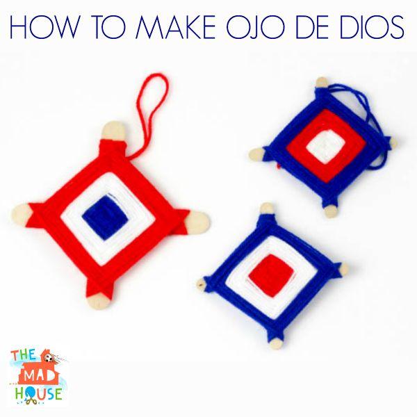 how to make Ojo de Dios God's eyes