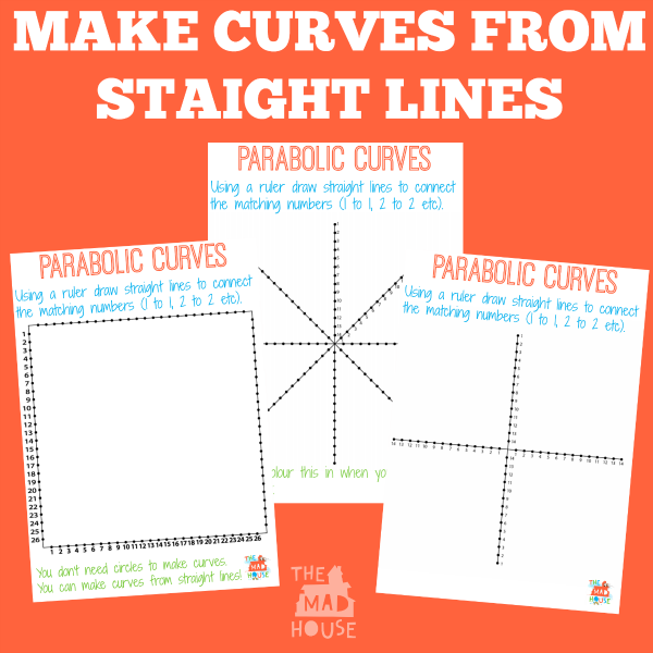 Drawing Straight Lines With A Ruler Worksheets : Maths and art collide parabolic curves mum in the madhouse