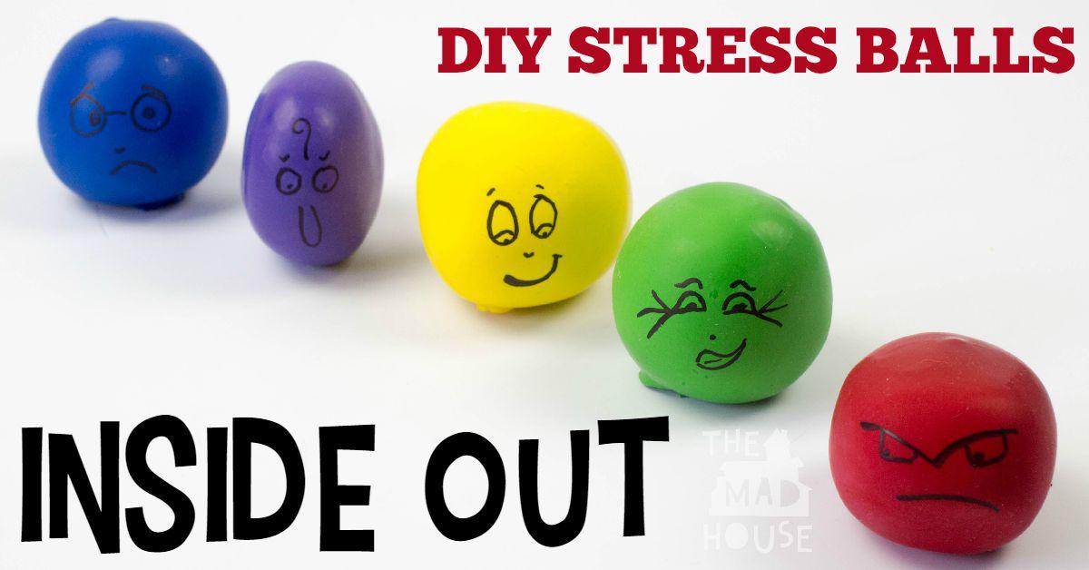 DIY inside out stress balls