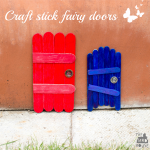 How to make craft stick fairy doors