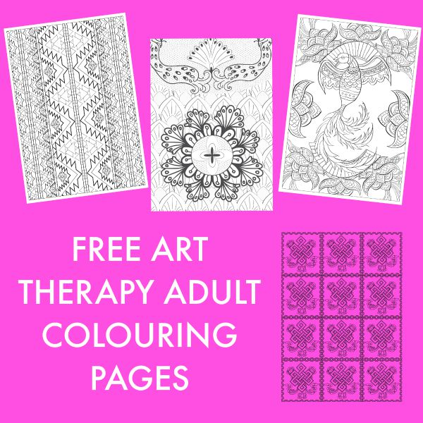 Free art therapy adult colouring pages