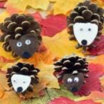 Pinecone Hedgehogs – An Autumn Kids Craft