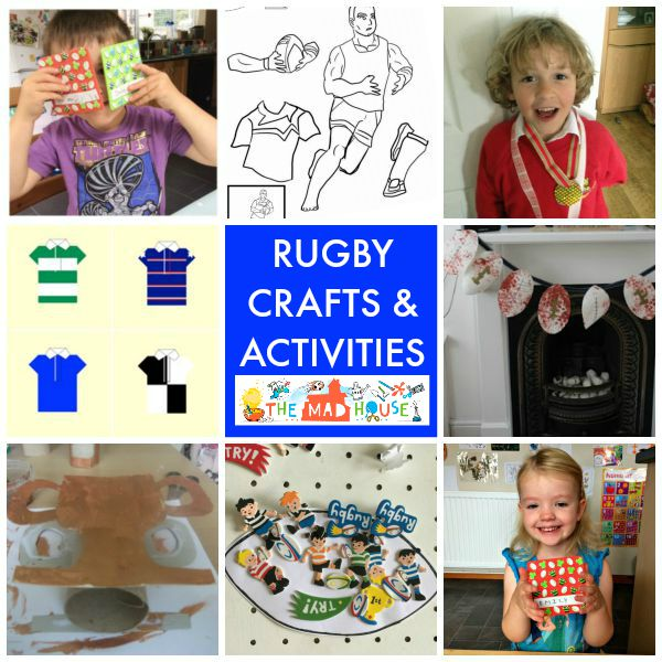 rugby crafts and activities square