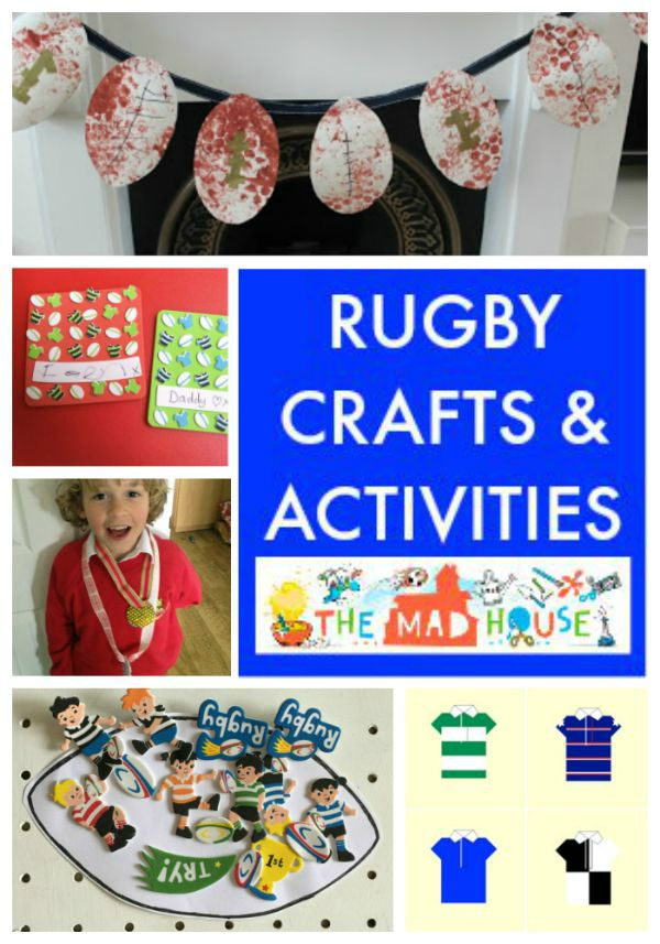 rugby crafts and activities