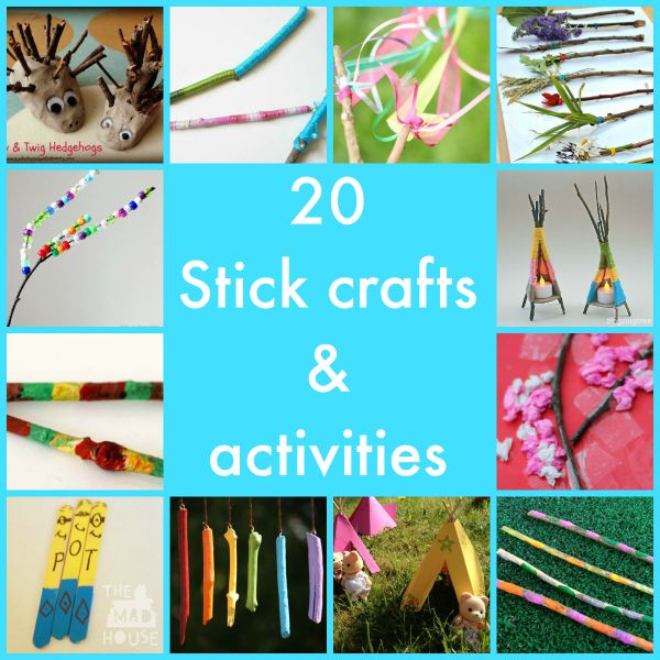 Stick crafts and activities