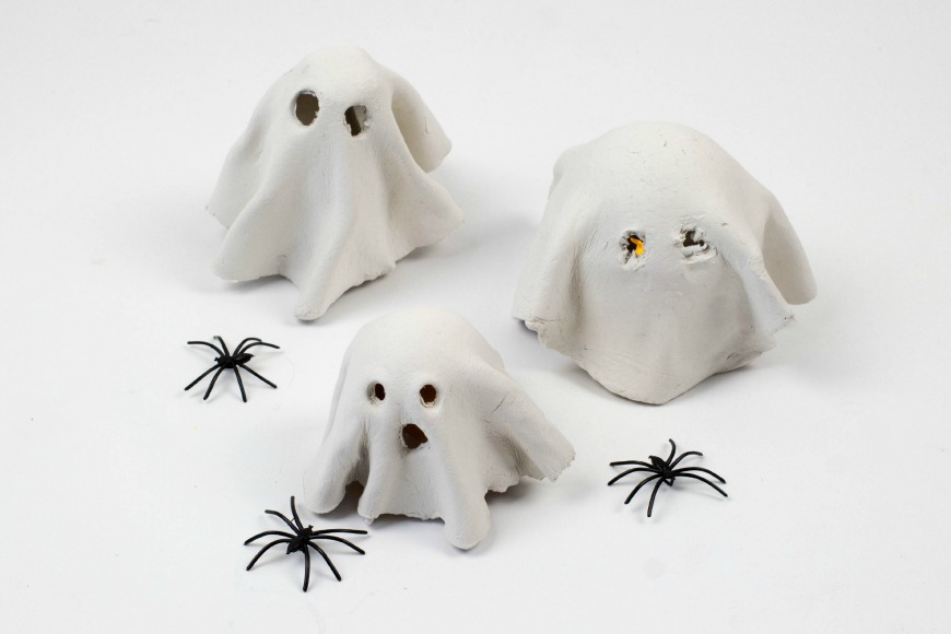How to Make a Clay Ghost Tealight - Have a Halloween at home that is fun for all with our spooky yet simple Halloween activities and crafts to do with the kids this half term.