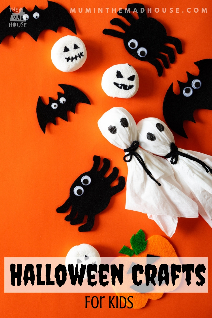 Halloween crafts for kids of all ages that are super and simple. Enjoy the season with these simple Halloween makes and bakes for children.