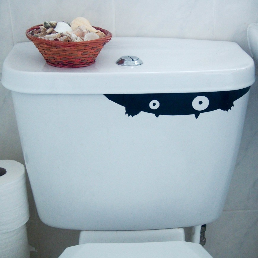 Toilet Monster Decal Have a Halloween at home that is fun for all with our spooky yet simple Halloween activities and crafts to do with the kids this half term.