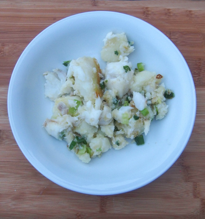 Cod and Potato Hash, a delicious simple family meal – cooking with kids