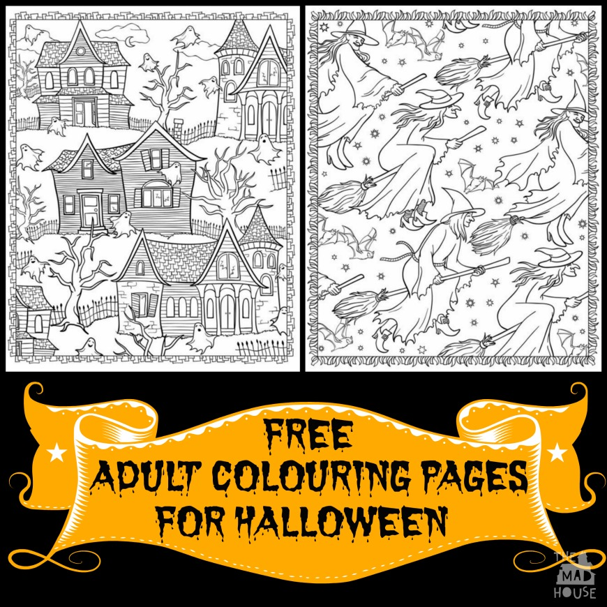 Halloween Colouring pages for Adults - Mum In The Madhouse