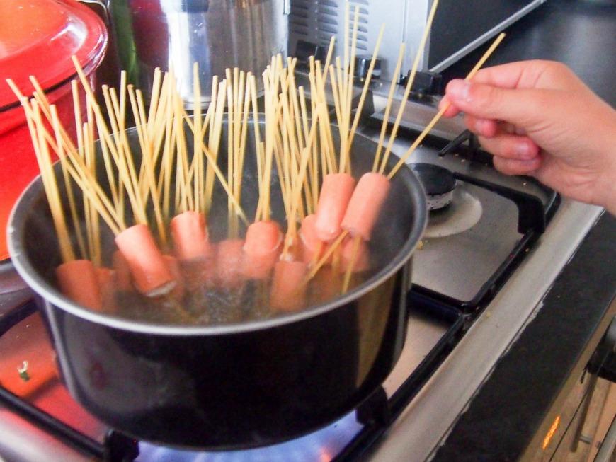 hairy hot dogs or scary spaghett