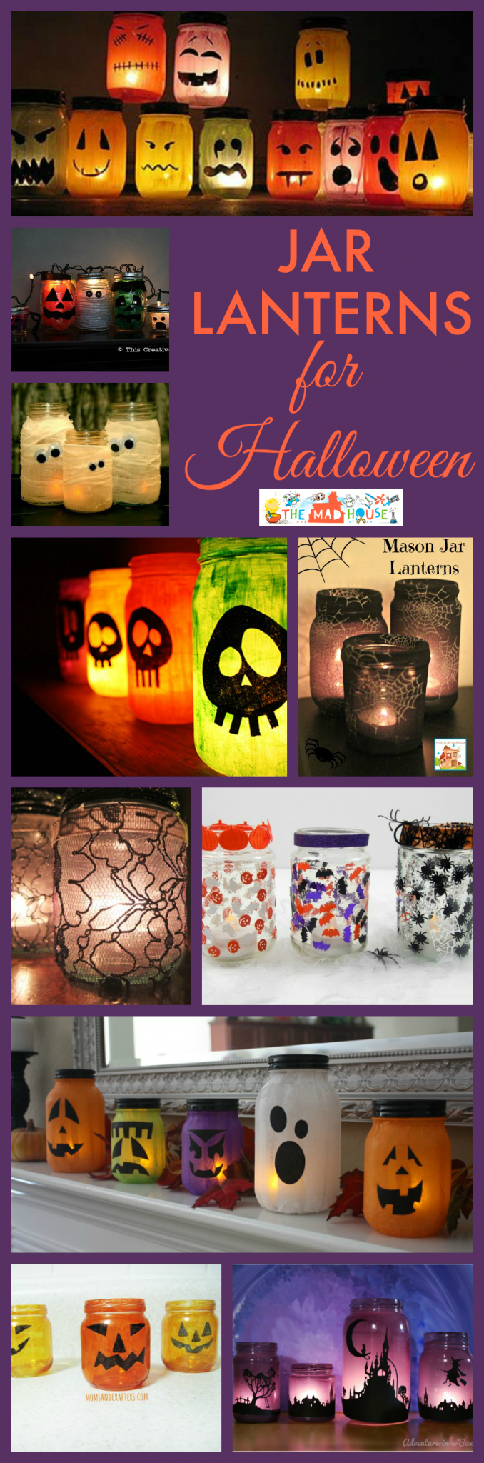 Simple Jar Lanterns For Halloween Mum In The Madhouse