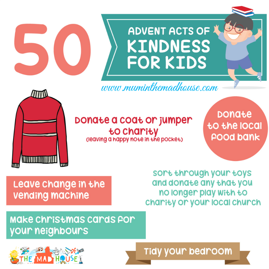 Acts Of Kindness For Advent An Alternative Advent Calendar Mum