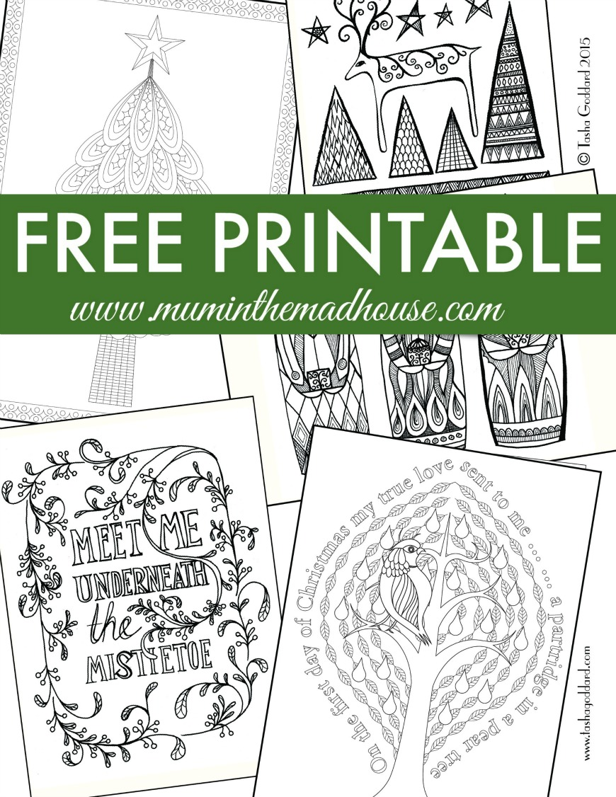 Free Christmas Colouring Pages for Adults and Teens - Mum In The ...