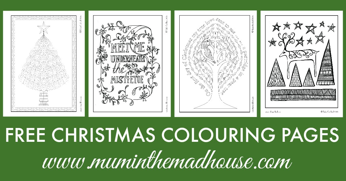 Free Christmas Colouring Pages For Adults And Teens Mum In The Madhouse