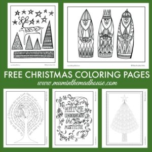 Free Christmas Colouring Pages for Adults and Teens