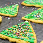 Gingerbread Christmas Tree Cookies – a simple recipe perfect for cooking with kids