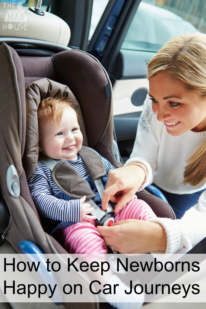 How to Keep Newborns Happy on Car Journeys
