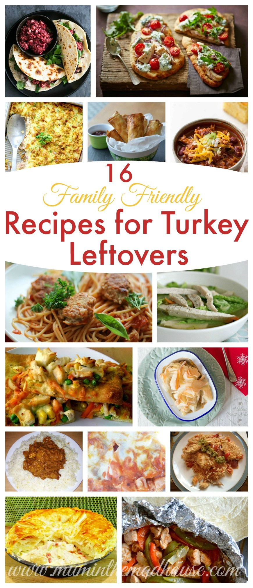 16 Leftover turkey recipes that the whole family will love. 16 Family friendly leftover turkey recipes. Make sure you make the most of your turkey leftovers with these recipes the whole family will adore