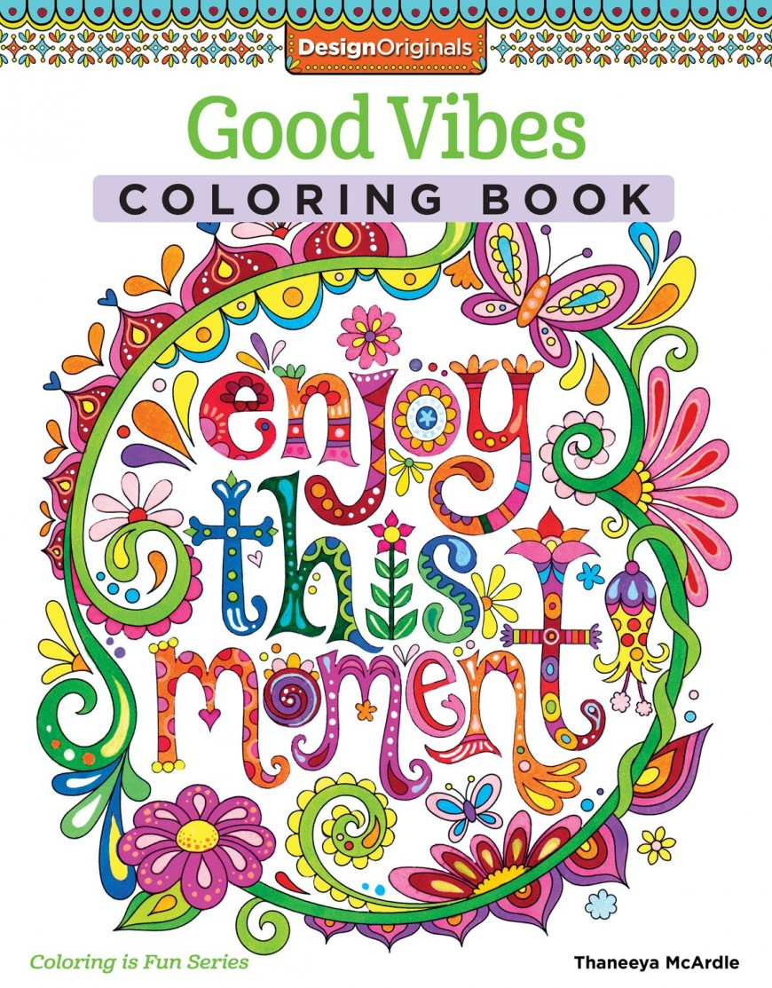 Good Vibes Coloring Book UK Link US