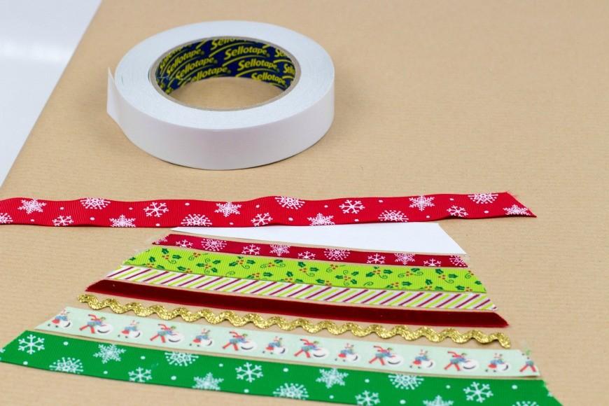 DIY gift wrap - christmas tree 1