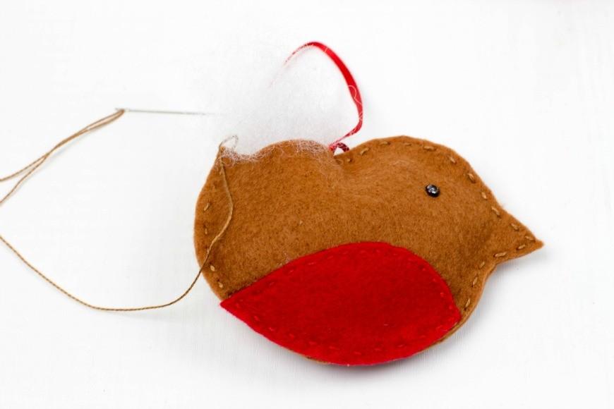 Felt Robin Christmas Ornament