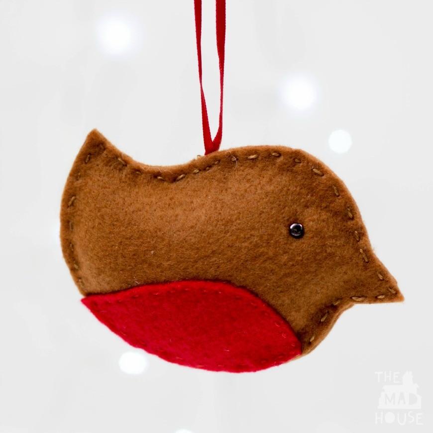 Felt Robin Christmas Ornament - Felt Robin Christmas Ornament - Mum In The Madhouse