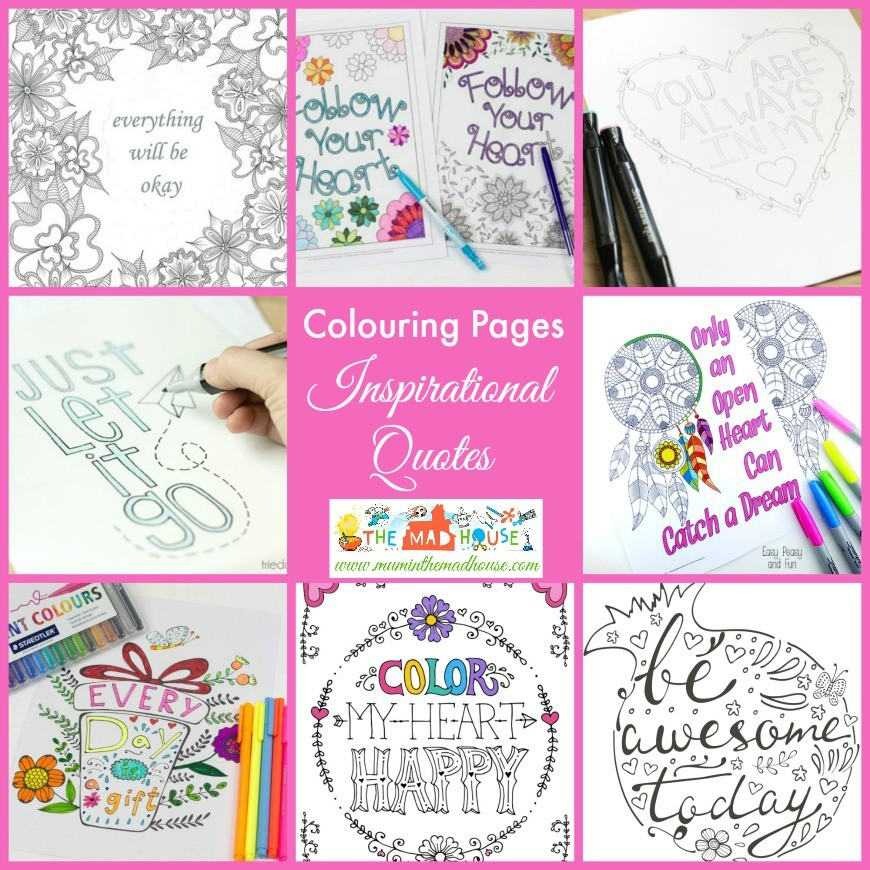 inspirational quotes colouring pages - Inspirational Coloring Pages For Adults