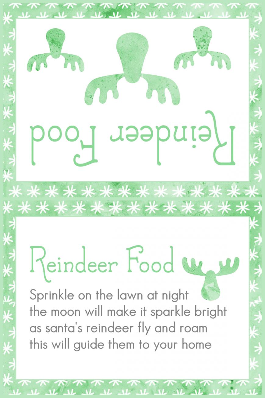 Magic Reindeer Food 2015 - Green Snowflakes