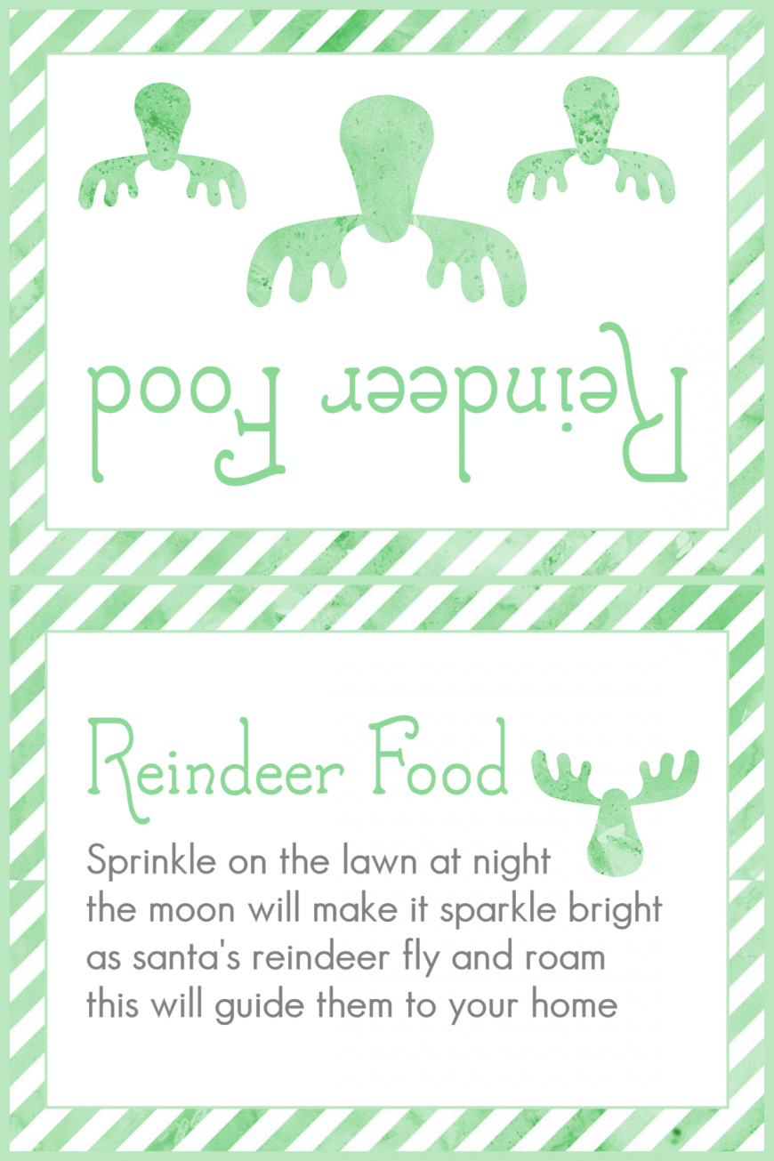 Magic Reindeer Food 2015 - Green Stripes