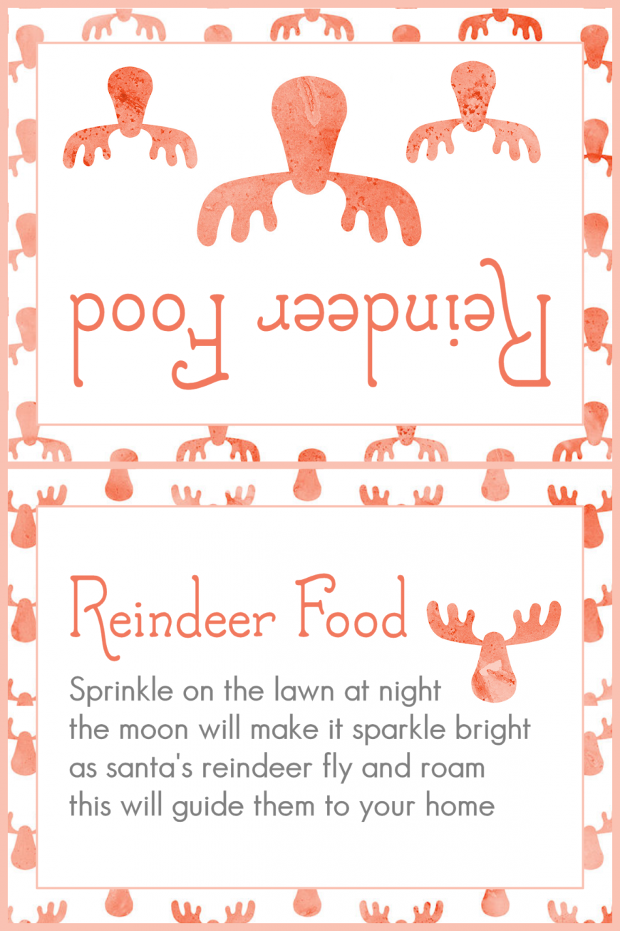 photo about Reindeer Food Labels Printable titled Do-it-yourself Magic Reindeer Food items - Mum Within just The Madhouse