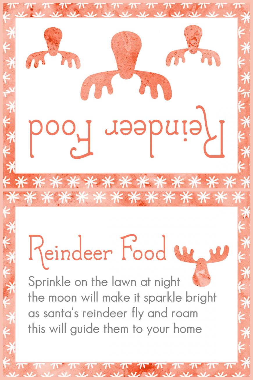 Magic Reindeer Food 2015 - Red Snowflakes