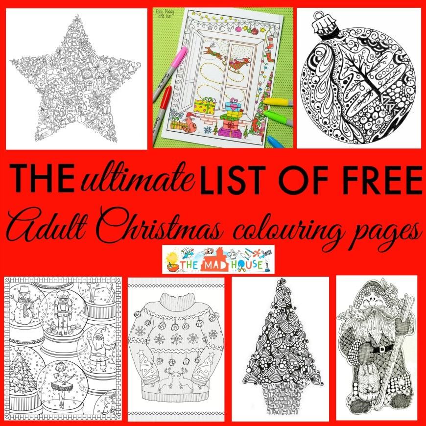 the ultimate free christmas colouring pages for adults roundup
