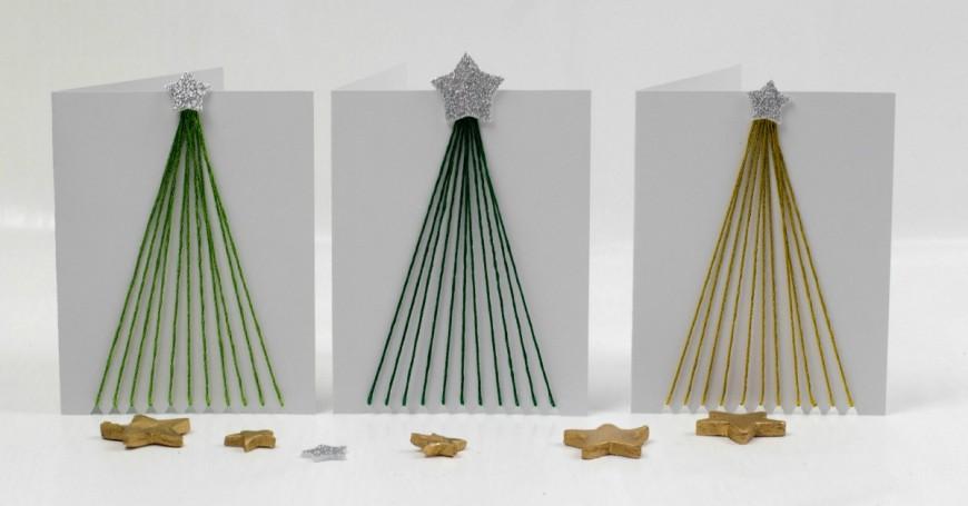 fine motor string art tree christmas
