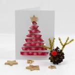 Threaded Ribbon Christmas Cards