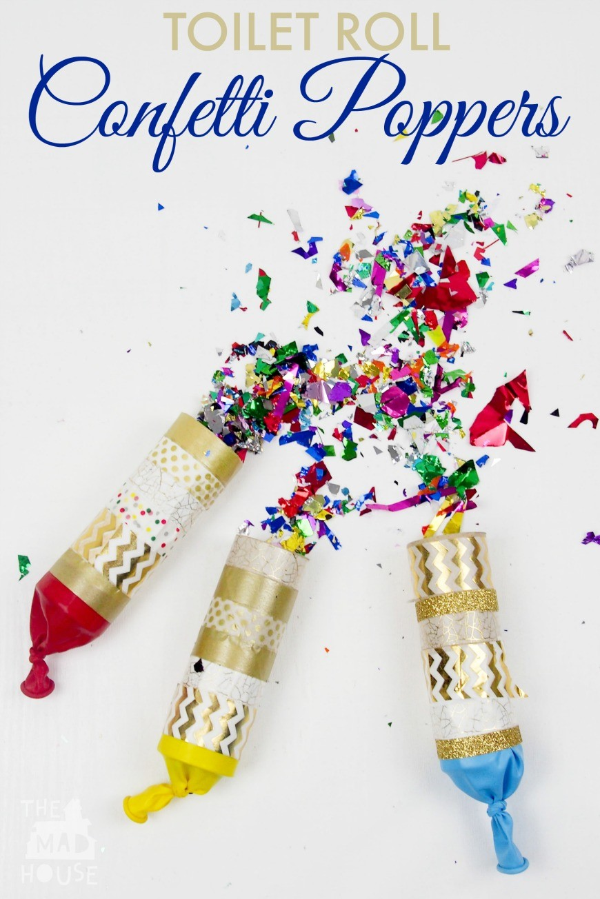these toilet roll confetti poppers are simple to make and such a fun craft and activity