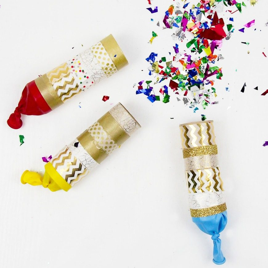 Toilet Roll Confetti Poppers