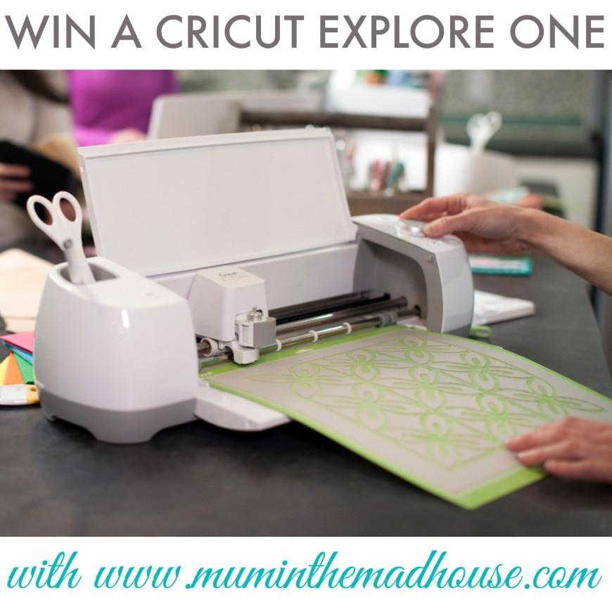 Win a cricut explore one