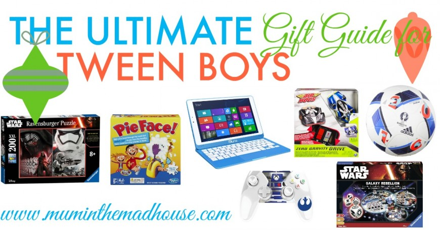 The ultimate gift guide for tween boys aged 9 - 12. It's hard to read the minds of pre teen boys but here are the coolest gifts this season.
