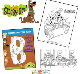 Be cool with Scooby-Doo Kids Colouring Pages
