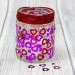Heart Jar Luminaries – A simple kids valentines craft