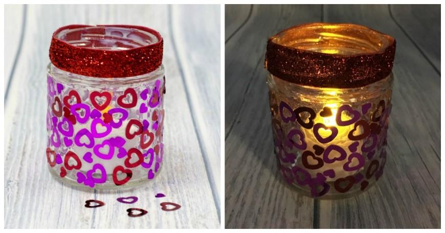 Heart Jar Luminaries - A simple kids valentines craft
