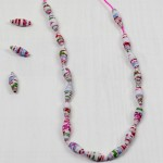 How to make paper beads Necklace from wrapping paper